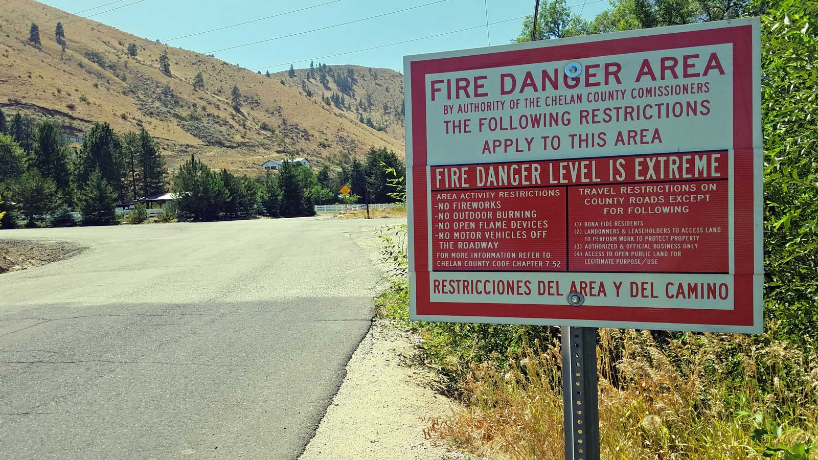 Chelan County Fire Hazard Designation - July 19, 2021