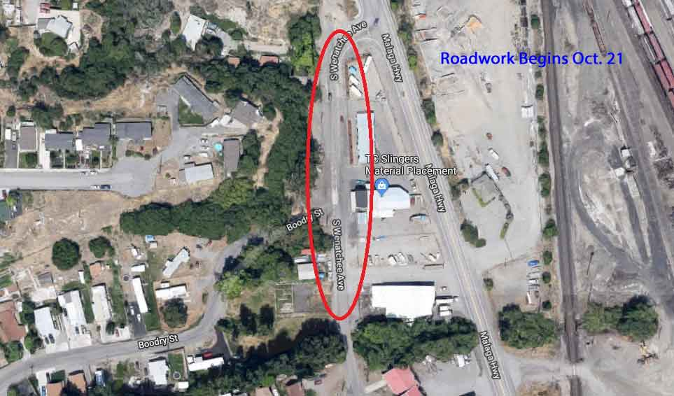 Work to replace South Wenatchee stormwater pipe begins Oct. 21