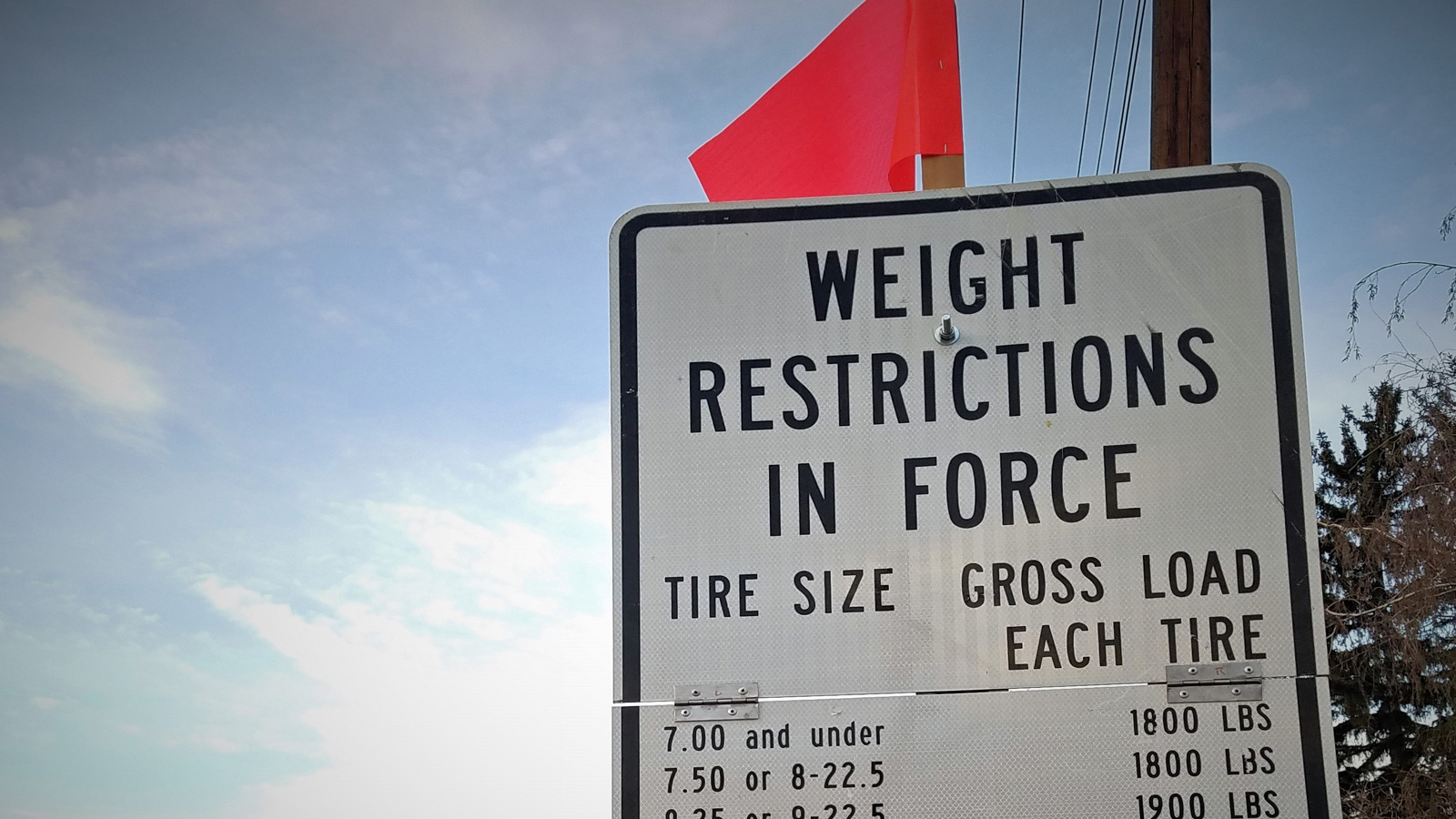 Seasonal weight restrictions now on county roads